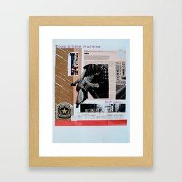 love a time machine Framed Art Print