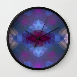 Triangles design in purple colors Wall Clock
