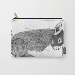 Baby donkey sleeping Carry-All Pouch