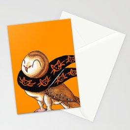 Happy Owl-o-Ween (Barn Owl) Stationery Cards