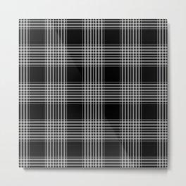 Black & Gray Plaid Print Metal Print