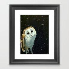 Barn Night Owl Framed Art Print