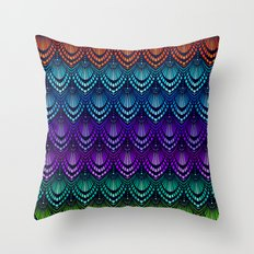 Variations on a Feather I - Deco Style Throw Pillow