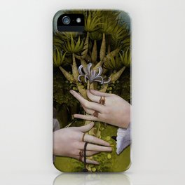 """""""The hands of Bosch and the Spring"""" iPhone Case"""