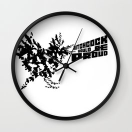 Hitchcock would be proud - black Wall Clock