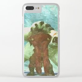 White bear attack Clear iPhone Case