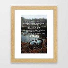 Brave May Live Viking Prayer Framed Art Print