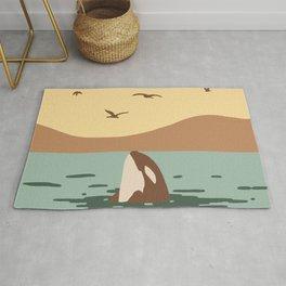 Orca Killer whale art Rug