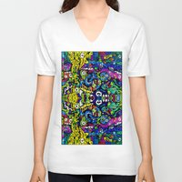 starry night V-neck T-shirts featuring #STARRY #NIGHT by JOHNF
