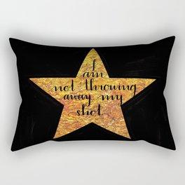 Not Throwing Away My Shot Rectangular Pillow