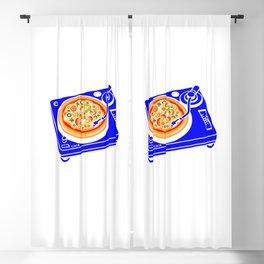 Pizza Scratch Blackout Curtain
