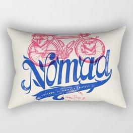 Bicycle Nomad - travel bike label Rectangular Pillow