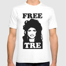FREE TRE X-LARGE White Mens Fitted Tee