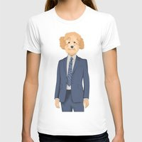 poodle T-shirts featuring Posing Poodle by drawgood