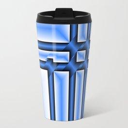 abstract pattern in metal Travel Mug