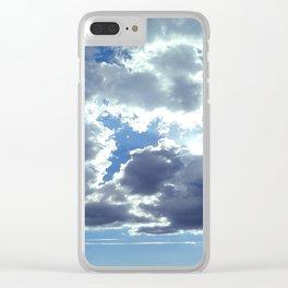 Clouds & Sun Clear iPhone Case