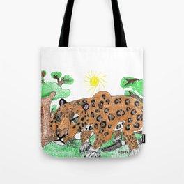 Indian Leopard Tote Bag