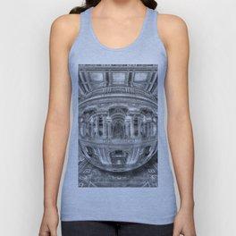 Ode To MC Escher Library of Congress Orb Horrizontal Unisex Tank Top