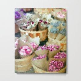The Flower Seller's Stall  Metal Print