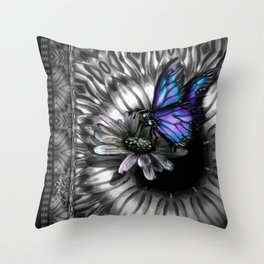 Splendid Blue Throw Pillow