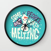 risa rodil Wall Clocks featuring Worth melting for by Risa Rodil