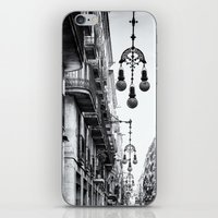 barcelona iPhone & iPod Skins featuring Barcelona  by Monochrome by Juste Pixx