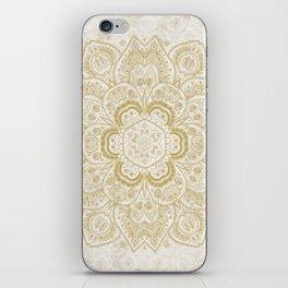 Mandala Temptation in Golden Yellow iPhone Skin