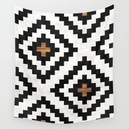 Urban Tribal Pattern No.16 - Aztec - Concrete and Wood Wall Tapestry