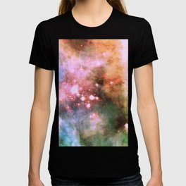 Colorful Pink Sparkle Carina Nebula Abstract T-shirt