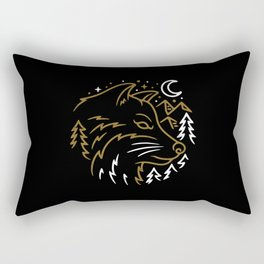 Wolf Wild Rectangular Pillow