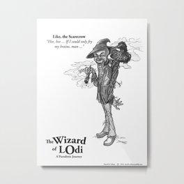 Like, the Scarecrow Sketch Metal Print
