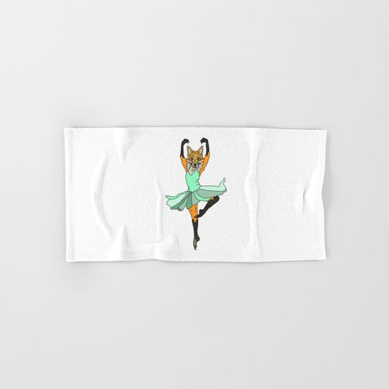 Fox Ballerina Tutu Hand & Bath Towel