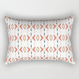 Ethnic symmetrical floral ornament Rectangular Pillow
