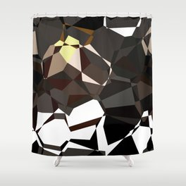 Geometic Greys Shower Curtain