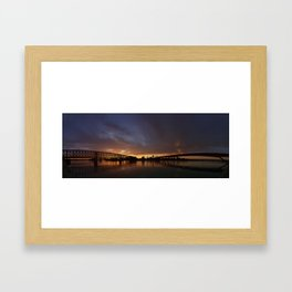 Sunset symmetry Framed Art Print