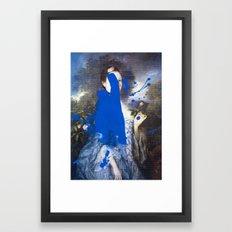 Blue Bomb Framed Art Print