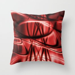 Delusional‎ - RED Throw Pillow