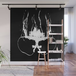 Flaming Specs Wall Mural