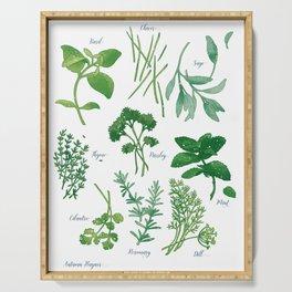 Kitchen Herbs Serving Tray