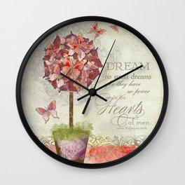 Butterfly Dreams - Scroll Swirl Flourish Wall Clock