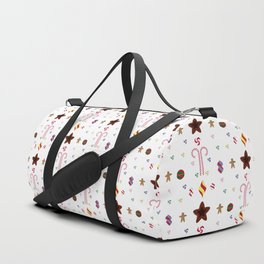 Candy cane pattern 1 Duffle Bag
