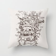 Howl's Moving Castle Plan Throw Pillow