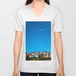 At The Sky Unisex V-Neck