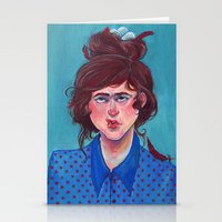 birdy Stationery Cards featuring Birdy by Alice Holleman