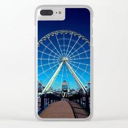 Blue coldness - Montréal Clear iPhone Case