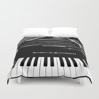 piano Duvet Covers featuring Piano  by Jessica Tuccinardi