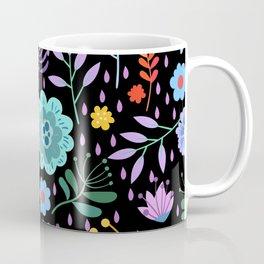 Cute colorful mixed flowers pattern Coffee Mug