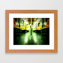 Subway Symmetry Framed Art Print