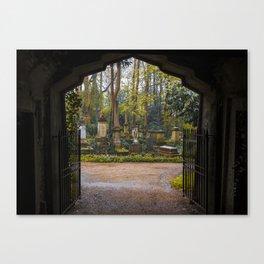 Cemetery gates Canvas Print