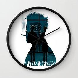 In Tyler we Trust Wall Clock